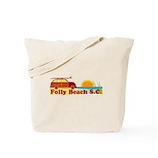 Folly Beach - Surfing Design Tote Bag