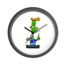 Cartoon Frankenstein Wall Clock
