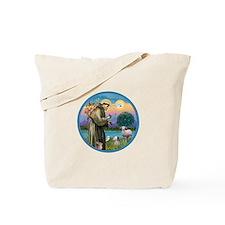St. Francis / Poodle (parti) Tote Bag