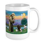 St Francis/3 dogs Large Mug