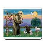 St Francis/3 dogs Mousepad