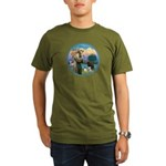 St Francis/3 dogs Organic Men's T-Shirt (dark)
