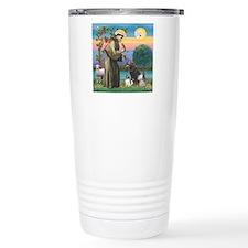 St Francis/3 dogs Travel Mug