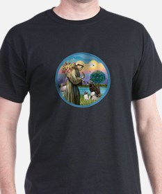 St Francis/3 dogs T-Shirt