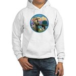 St Francis/3 dogs Hooded Sweatshirt
