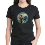 St Francis/3 dogs Women's Dark T-Shirt
