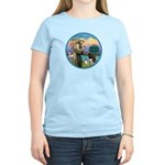 St Francis/3 dogs Women's Light T-Shirt