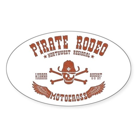Pirate Rodeo Oval Sticker