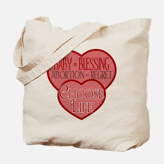 Baby Blessing; Abortion Regre Tote Bag