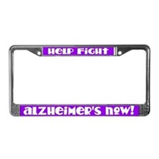 Purple Fight Alzheimers License Frame
