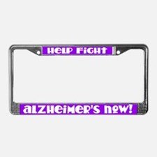 Purple Fight Alzheimers License Frame