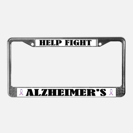 Help Fight Alzheimers License Plate Frame