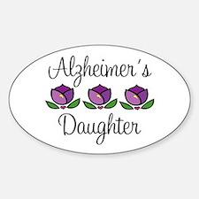 Alzheimer's Daughter Oval Decal