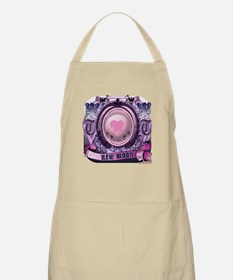 New Moon Antique Etching Apron