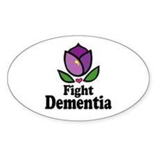 Fight Dementia Oval Decal