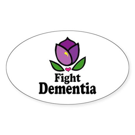 Fight Dementia Oval Sticker