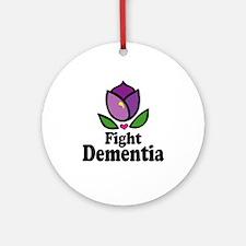 Fight Dementia Ornament (Round)