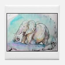 Unique African elephant Tile Coaster