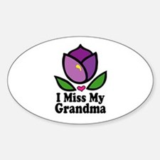 Alzheimer's Grandma Oval Decal