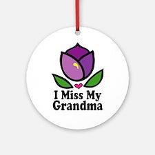 Alzheimer's Grandma Ornament (Round)