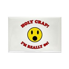 Holy Crap 80th Birthday Rectangle Magnet (100 pack