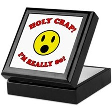 Holy Crap 80th Birthday Keepsake Box