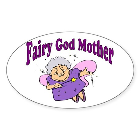 Fairy Godmother Oval Sticker