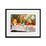 MAD HATTER'S TEA PARTY Framed Panel Print