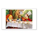 MAD HATTER'S TEA PARTY Rectangle Sticker 10 pk)