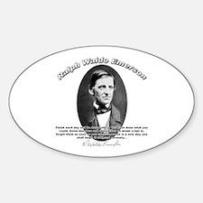 Ralph Waldo Emerson 02 Oval Decal