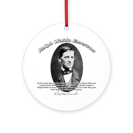 Ralph Waldo Emerson 02 Ornament (Round)