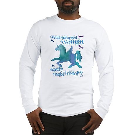 Well-behaved Unicorn Long Sleeve T-Shirt