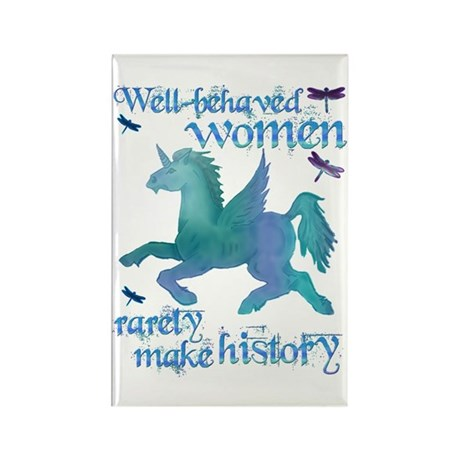 Well-behaved Unicorn Rectangle Magnet