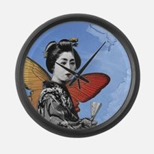 Madame Butterfly Large Wall Clock