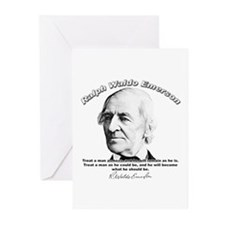Ralph Waldo Emerson 01 Greeting Cards (Package of