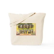 Fort Wayne Indiana Vintage Art Tote Bag