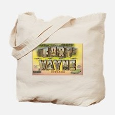 Fort Wayne Indiana Vintage Art Tote Bag