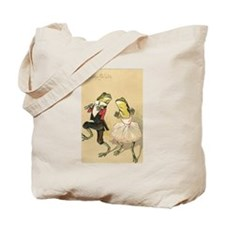 Cake Walk Dancing Frogs Vintage Art Tote Bag