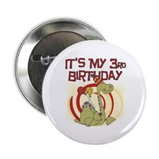 "Dinosaur 3rd Birthday 2.25"" Button"