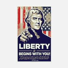 Jefferson Liberty Rectangle Decal
