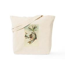 Fish Playing Accordion Vintage Art Tote Bag