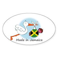Stork Baby Jamaica Oval Decal