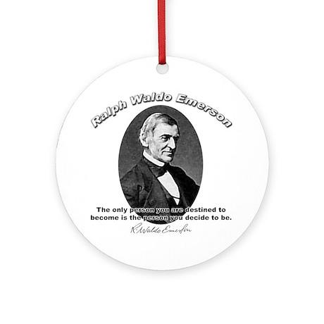 Ralph Waldo Emerson 04 Ornament (Round)