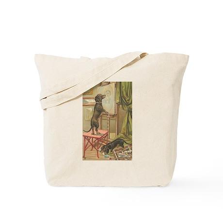 Dachshund Dogs Vintage Art Tote Bag