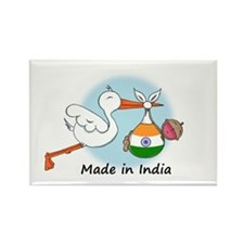 Stork Baby India Rectangle Magnet