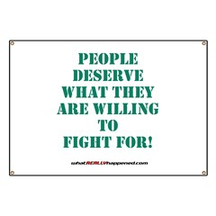 People Deserve What They6 Are Banner