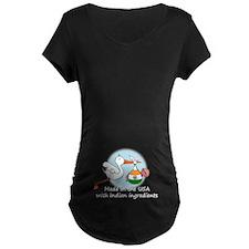 Stork Baby India USA T-Shirt
