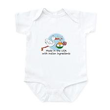 Stork Baby India USA Infant Bodysuit