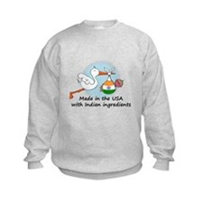 Stork Baby India USA Sweatshirt