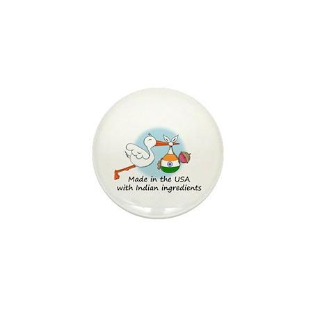 Stork Baby India USA Mini Button